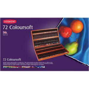 Derwent Coloursoft 72 Colour Pencils Wooden Box Set - Derwent