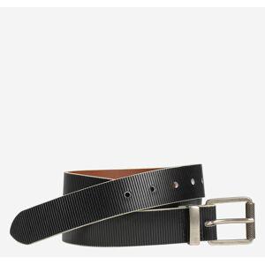 Johnston & Murphy Men's Embossed Lines Belt - Black - Size 44