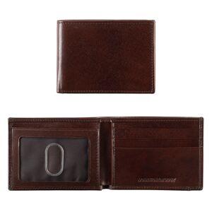 Johnston & Murphy Men's Italian Leather Super Slim Wallet - Mahogany - Size EACH