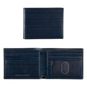 Johnston & Murphy Men's Slimfold Wallet - Navy Italian Brush Off - Size EACH