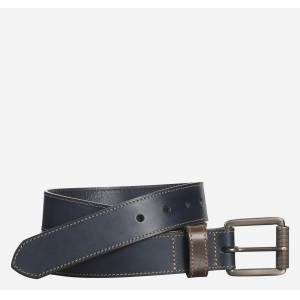 Johnston & Murphy Men's Contrast Stitch Belt - Navy - Size 36
