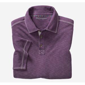 Johnston & Murphy Men's Vintage Slub Polo - Purple - Size XL