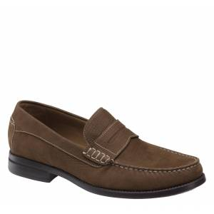Johnston & Murphy Men's Chadwell Penny - Brown Textured Nubuck - Size 8 - M