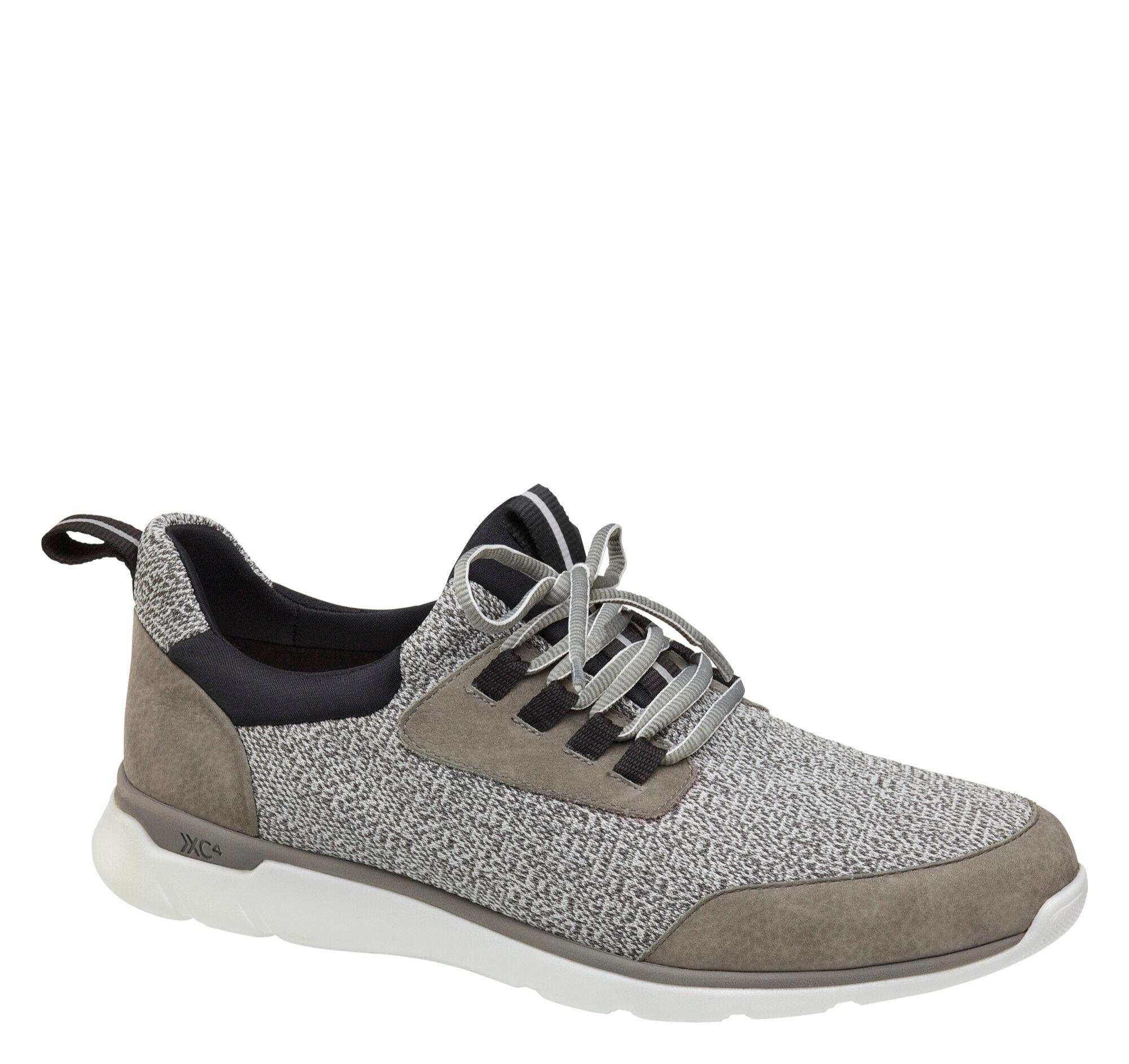 Johnston & Murphy Men's XC4 Prentiss Moc Toe Shoe - Gray Tumbled Nubuck/Knit - Size 11.5 - M