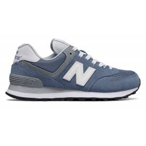 New Balance Women's 574 Core Plus Shoes Blue with Grey