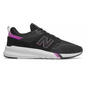 New Balance Women's 009 Shoes Black with Purple