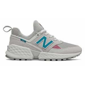 New Balance Women's 574 Sport Shoes Grey with Blue