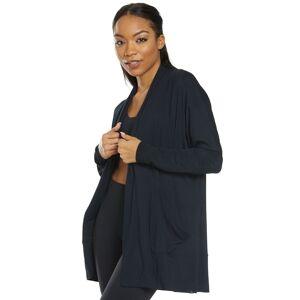 prAna Women's Foundation Wrap - Black X-Small Cotton Shirt