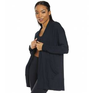 prAna Women's Foundation Wrap - Black Small Cotton Shirt