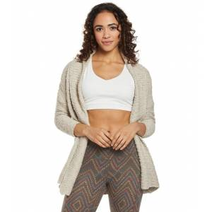 prAna Women's Pearson Sweater - Pebble Grey Medium/Large Cotton Shirt