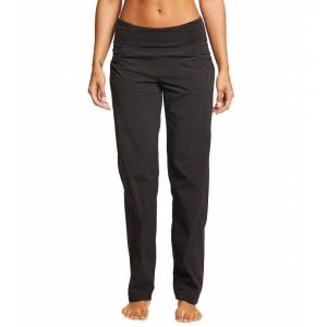 prAna Women's Summit Pants - Black Large Cotton