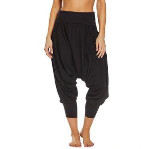 Buddha Pants Women's San Fran Organic Bamboo Hare - Black Medium Cotton