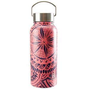 Gaiam Print Wide Mouth Stainless Steel Water Bottle (32oz) Medallion