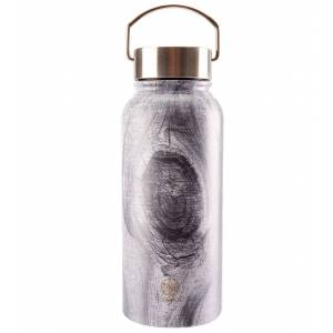 Gaiam Print Wide Mouth Stainless Steel Water Bottle (32oz) Smoky Birch