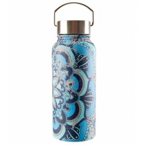 Gaiam Print Wide Mouth Stainless Steel Water Bottle (32oz) Madeira