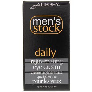 Aubrey Organics Men's Stock Daily Rejuvenating Eye Cream .5 Oz