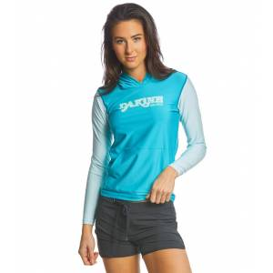 Dakine Women's Flow Hooded Loose Fit Long Sleeve Surf Shirt - Bay Islands X-Small Elastane/Polyester - Swimoutlet.com