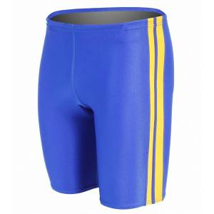 Waterpro Polyester Striped Jammer - Royal/Gold 40 Polyester/Pbt - Swimoutlet.com