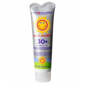 California Baby Super Sensitive Broad Spectrum Spf 30+ Sunscreen No Fragrance - Swimoutlet.com