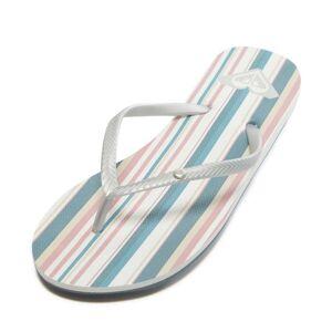 Roxy Women's Bermuda Ii Flip Flop - Blue/White 9 Rubber - Swimoutlet.com