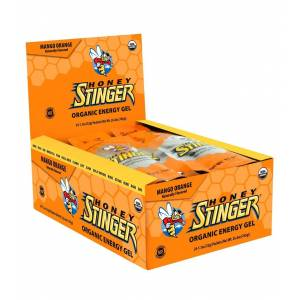 Honey Stinger Organic Energy Gels 24 Pack - Mango Orange - Swimoutlet.com