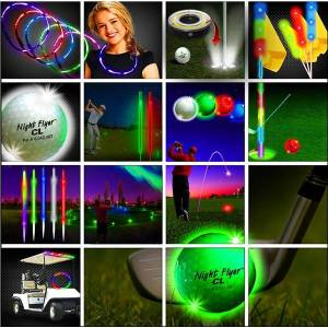 Windy City Novelties Deluxe 36 Player LED Night Flyer Tee Off Tournament Package by Windy City Novelties