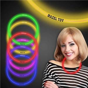 """Windy City Novelties Mazel Tov 22"""" Glow Necklaces by Windy City Novelties"""