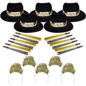 Windy City Novelties Gold & Silver City New Year Kit for 50 by Windy City Novelties
