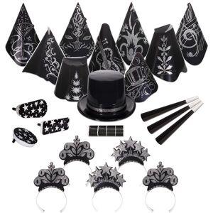 Windy City Novelties Black Tie New Year Kit for 50 by Windy City Novelties