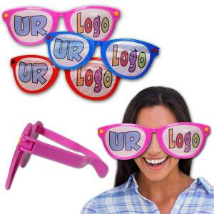 Windy City Novelties Jumbo Funny Custom Sunglasses - 12 Pack by Windy City Novelties