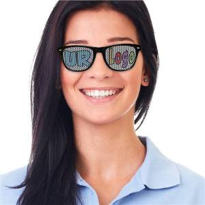 Windy City Novelties Black Custom Retro Sunglasses by Windy City Novelties