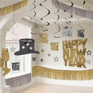 Windy City Novelties Silver, Gold & Black New Year's Eve Decorating Kit by Windy City Novelties