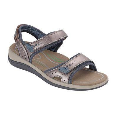 OrthoFeet #1 Plantar Fasciitis Arch Support Orthotic Orthopedic Pewter Sandals For Women   Orthofeet, 12 / Wide / Pewter