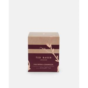 Ted Baker Pink Pepper And Cedarwood Scented Candle  - Oxblood - Size: One Size