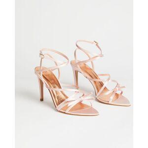 Ted Baker Satin Strappy Heeled Sandal  - Light Pink - Size: US 7