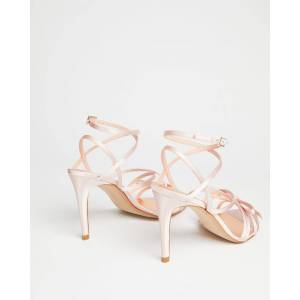 Ted Baker Satin Strappy Heeled Sandal  - Light Pink - Size: US 8