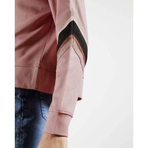 Ted Baker Sweatshirt With Knitted Stripe  - Pale Pink - Size: Ted Size 3 (US 8)
