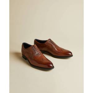 Ted Baker Classic Leather Brogues  - Tan - Size: US 8