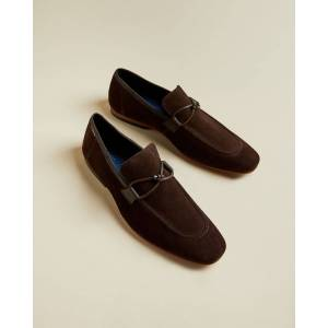 Ted Baker Suede Loafers With Tassel  - Brown - Size: US 9