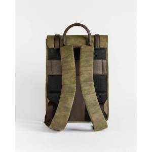 Ted Baker Nubuck Pu Backpack  - Olive - Size: One Size