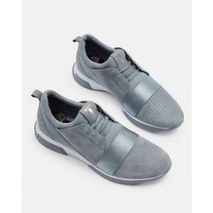 Ted Baker Strap Detail Running Trainers  - Light Gray - Size: US 10