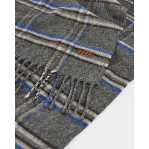 Ted Baker Checked Scarf  - Charcoal - Size: One Size