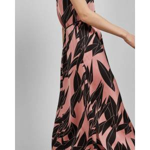 Ted Baker Sour Cherry Halter Neck Dress  - Pink - Size: Ted Size 2 (US 6)