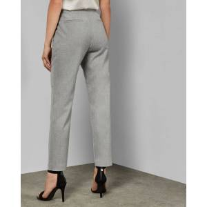 Ted Baker Grosgrain Detail Pants  - Light Gray - Size: Ted Size 1 (US 4)