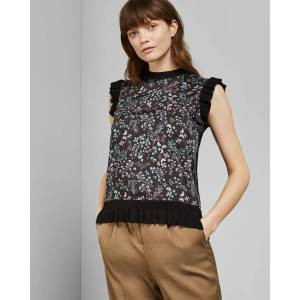 Ted Baker Hazel Sleeveless Knitted Top  - Black - Size: Ted Size 3 (US 8)