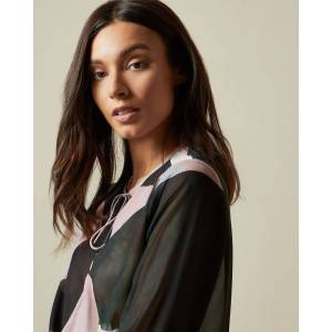 Ted Baker Sapphire Self-tie Blouse  - Pale Pink - Size: Ted Size 0 (US 2)