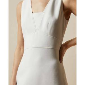 Ted Baker Seam Detail Pencil Dress  - Ivory - Size: Ted Size 5 (US 12)
