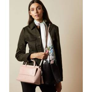 Ted Baker Leather Tassel Tote Bag  - Pink - Size: One Size