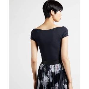 Ted Baker Bardot Top  - Black - Size: Ted Size 3 (US 8)
