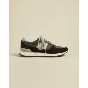Ted Baker Leather Tonal Trainers  - Gray - Size: US 11